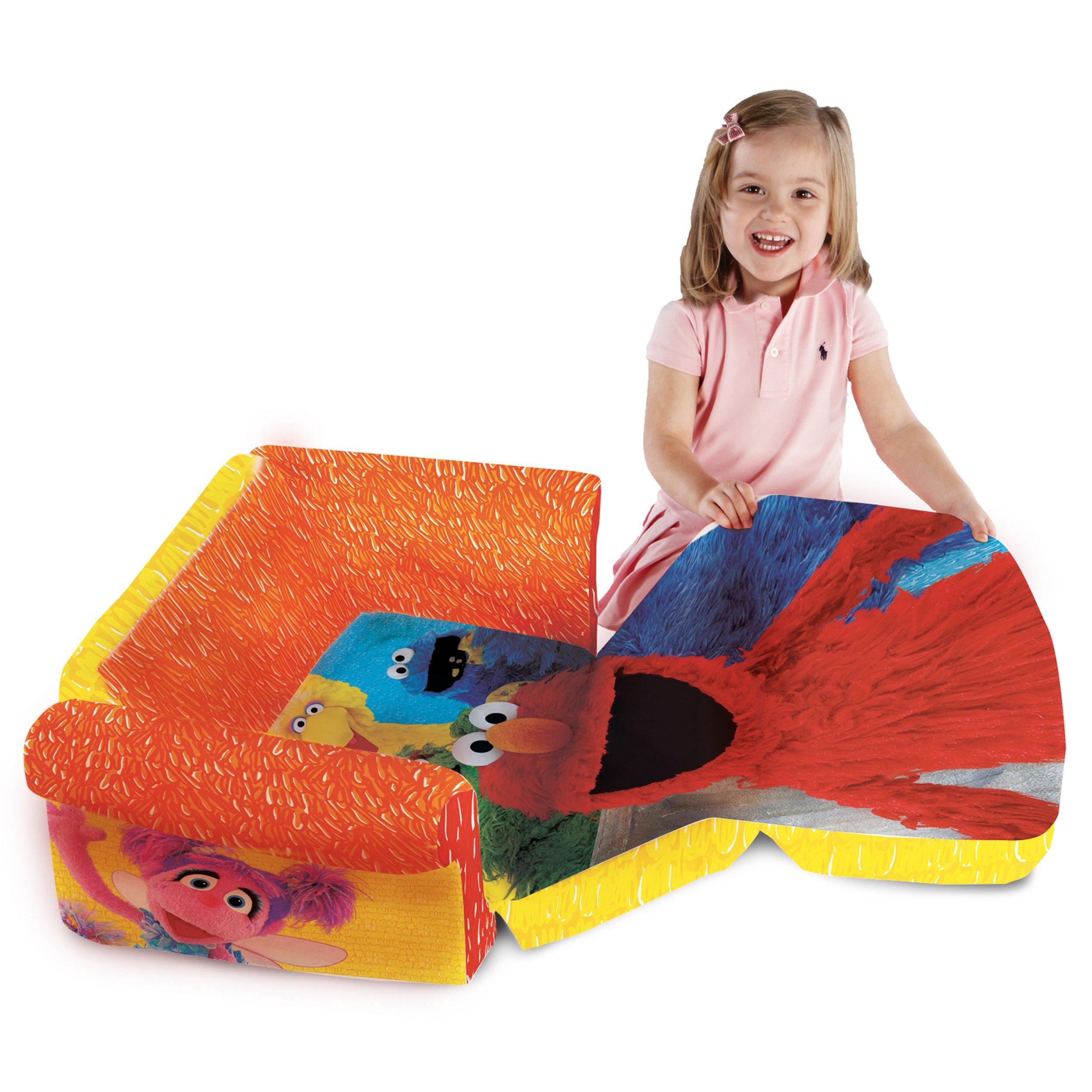 Marshmallow Furniture, Children's 2 in 1 Flip Open Foam Sofa, Sesame Street's Elmo/Sesame, by Spin Master by Marshmallow Furniture (Image #4)