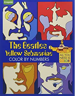 crayola the beatles yellow submarine color by numbers all you need is color - Beatles Coloring Book