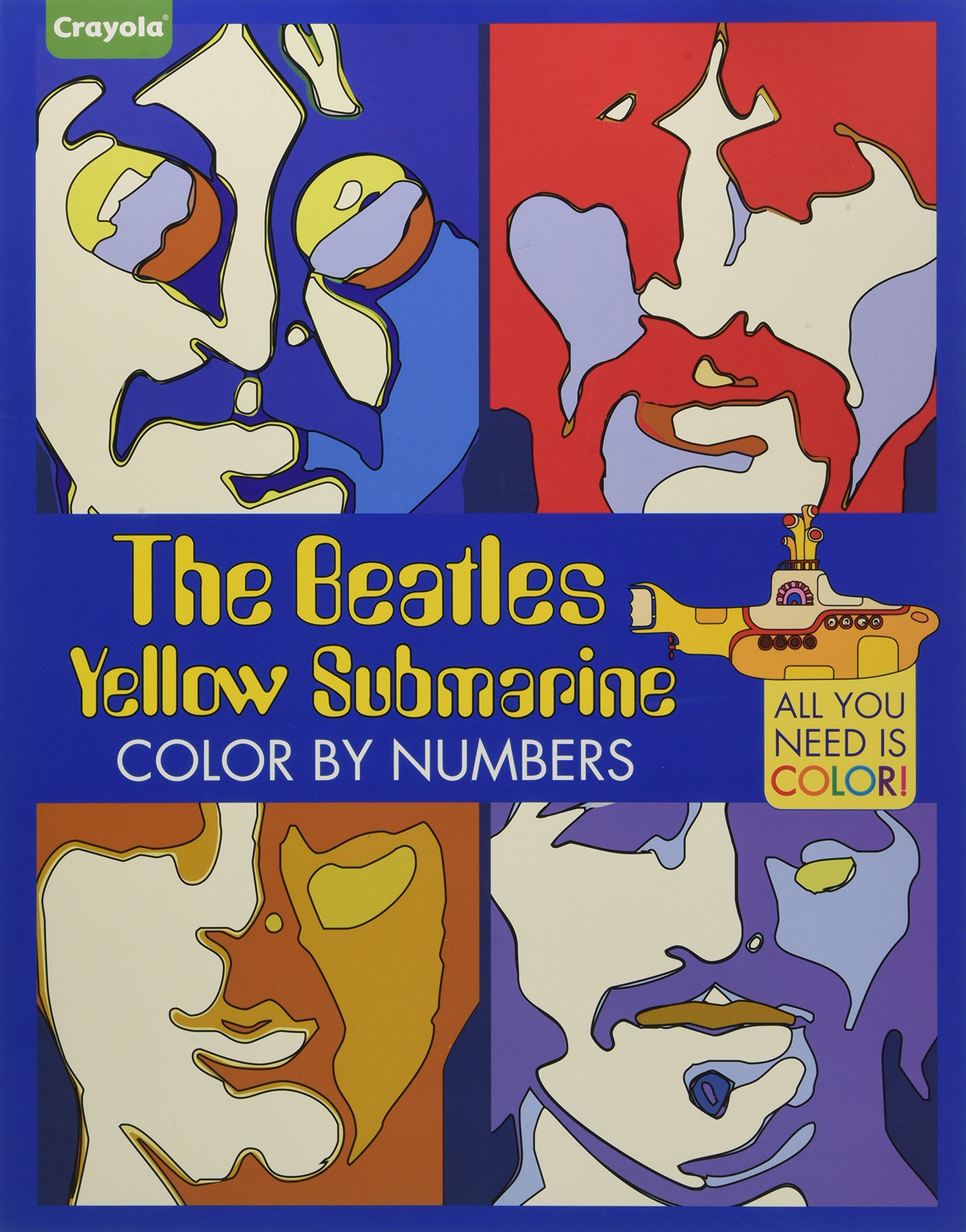 crayola the beatles yellow submarine color by numbers all you need