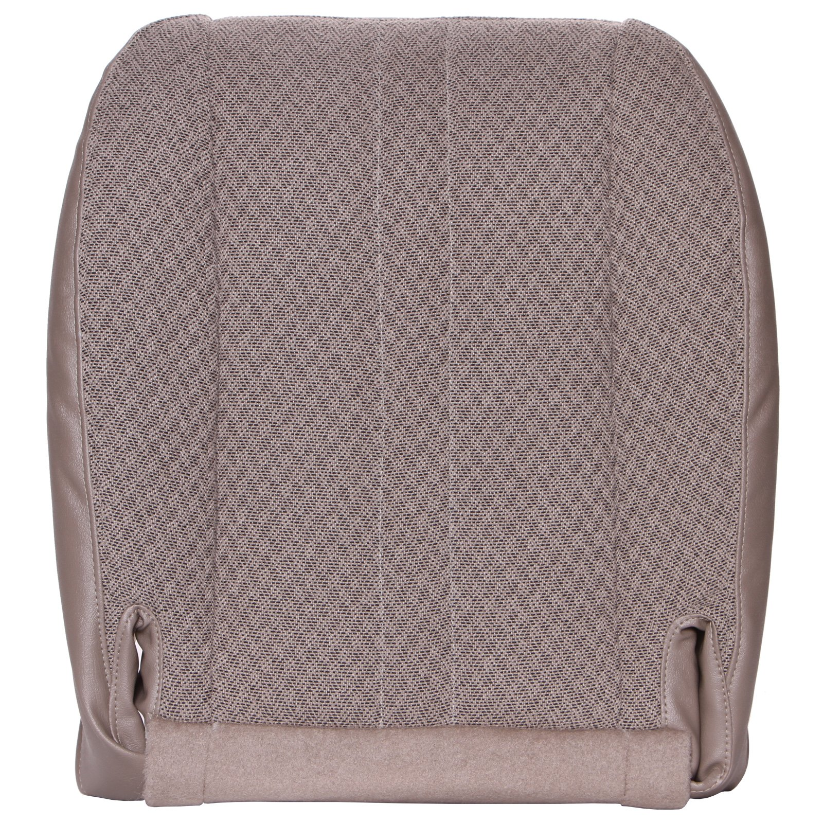 The Seat Shop Work Van Driver or Passenger Bottom Replacement Seat Cover - Medium Neutral (Tan) Cloth (Compatible with 2003-2014 Chevrolet Express and GMC Savana)