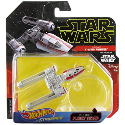 Hot Wheels Star Wars Starships The Rise of Skywalker Resistance Y-Wing Fighter: Toys & Games