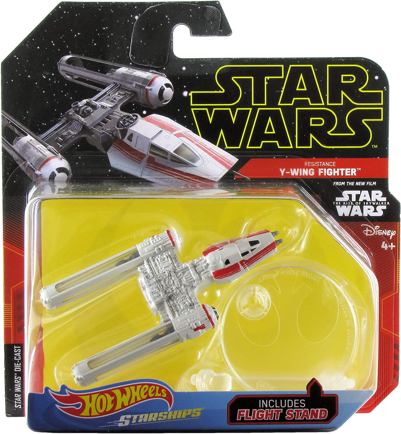 Amazon Com Hot Wheels Star Wars Starships The Rise Of Skywalker Resistance Y Wing Fighter Toys Games