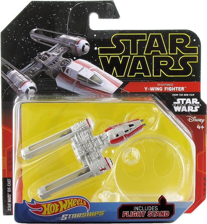 STAR WARS Rise of Skywalker RESISTANCE Y-WING FIGHTER ✰2019 Hot Wheels STARSHIPS