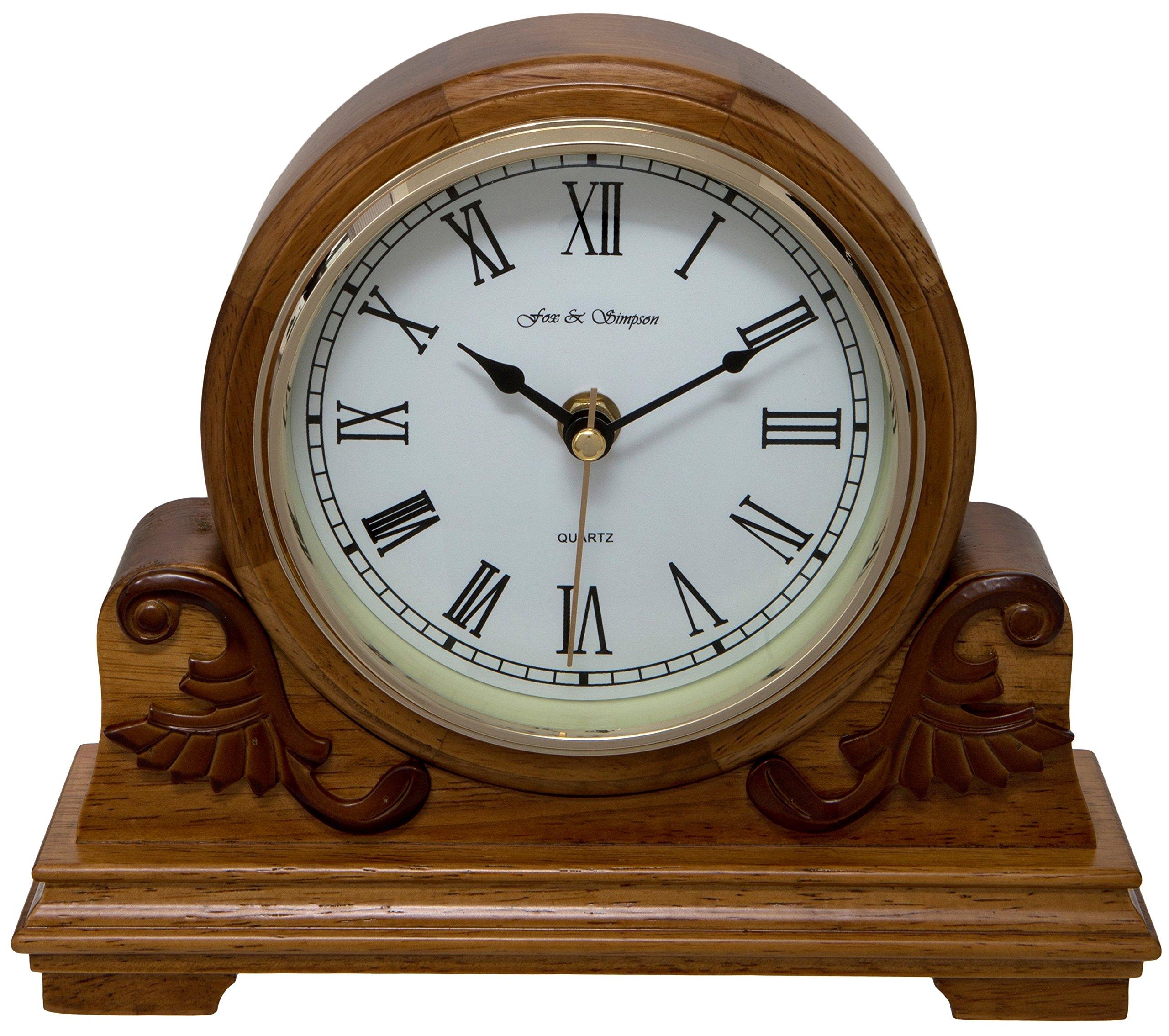 Fox and Simpson FSSW345 Buckingham Oak Mantel Clock