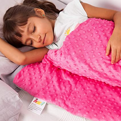 Calming Weighted Blanket for Kids - Children Heavy Blanket for Sleeping  with Minky Cover - Kid 0ce6f2f34