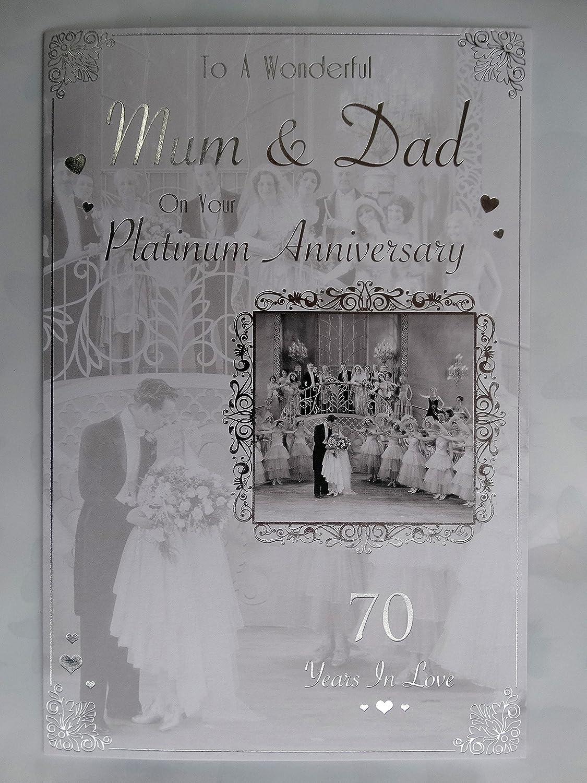 De Walden 70th Wedding Engraved Presentation Cut Glass Gift 70th