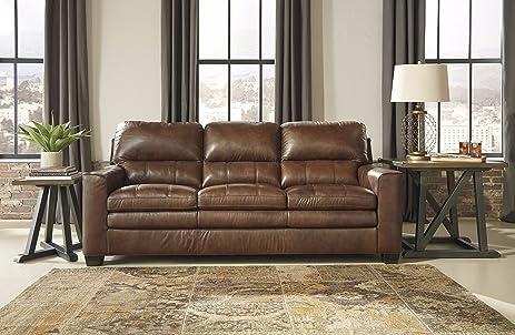 Bon Gleason Contemporary Canyon Color 100% Leather Sofa