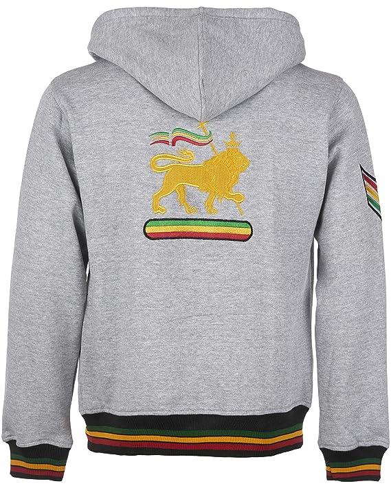Rasta - Chaqueta de Forro Polar con Capucha y Logo de león y ...