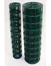 Easipet Green PVC Coated Steel Wire Mesh Fencing 120cm Garden Galvanised Fence