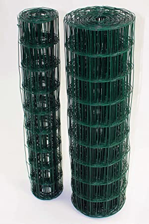 Green PVC Coated Steel Wire Mesh Fencing 120cm Garden Galvanised