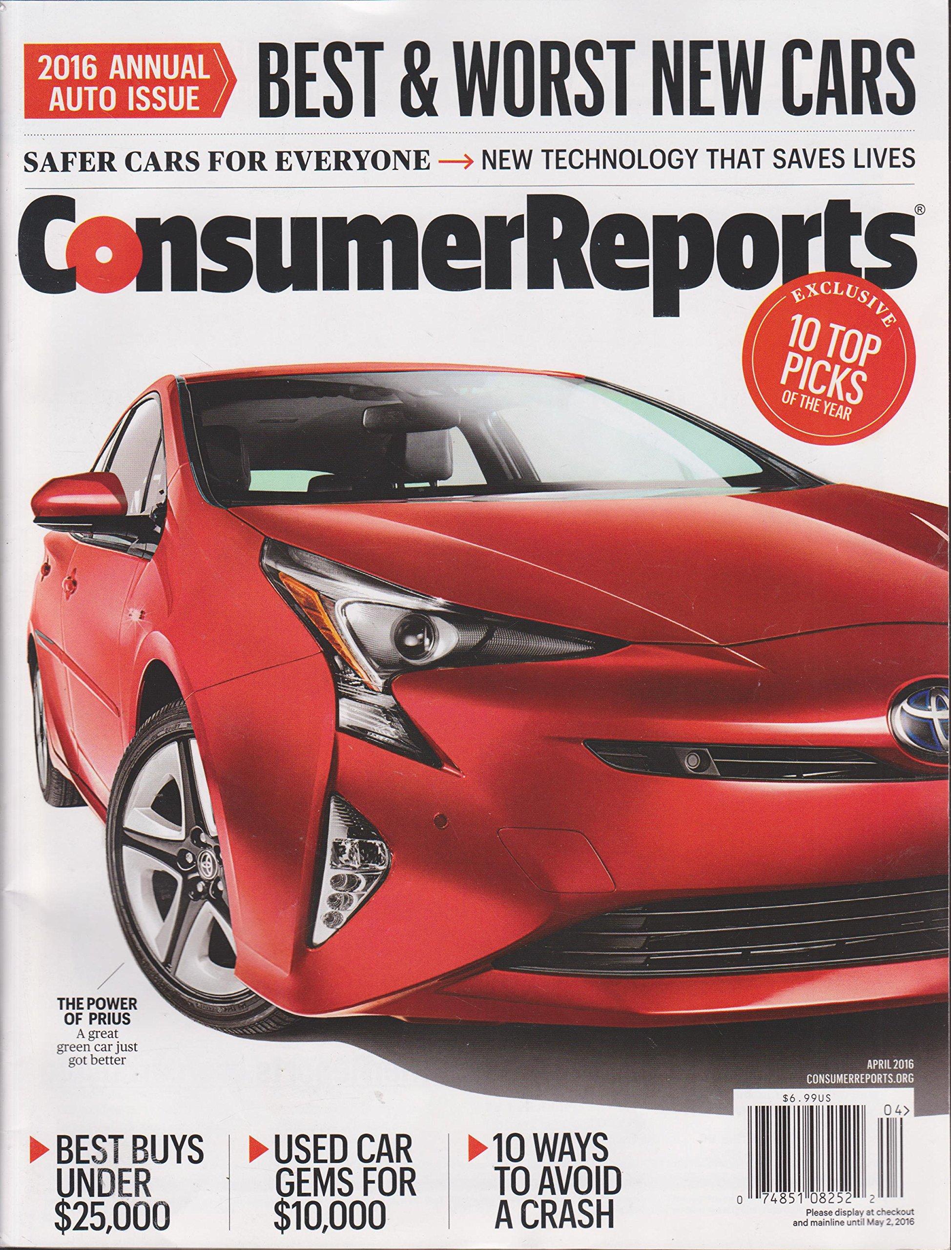 Consumer Reports April 2016 ebook