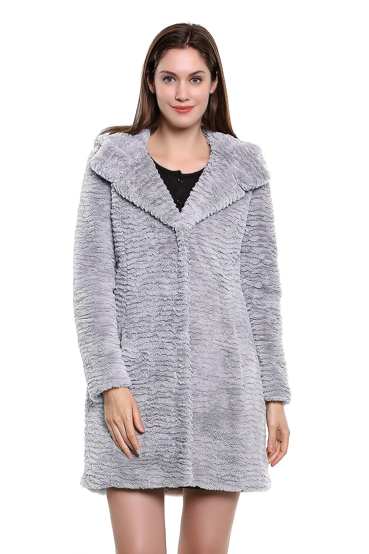 Adelaqueen Neuer Fabelhafter Persiches Lammfell Faux Fur Damen Wintermantel Multi-Style