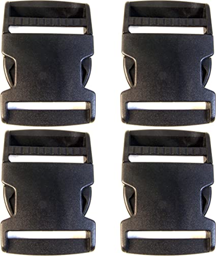 Clip 1 Plastic Quick Release Buckle Shipped from The USA! 4 Piece Set Side Release