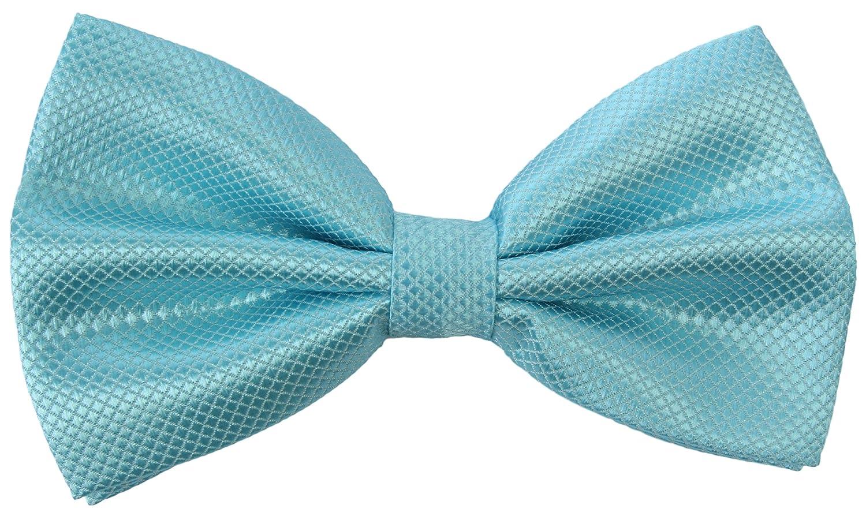 2Store24 Corbata de Lazo, Pajarita/cintas a cuadros en azul claro ...
