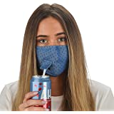 Snoozies 3-Layer Reusable, Washable Face Mask - Blue Polka Dot