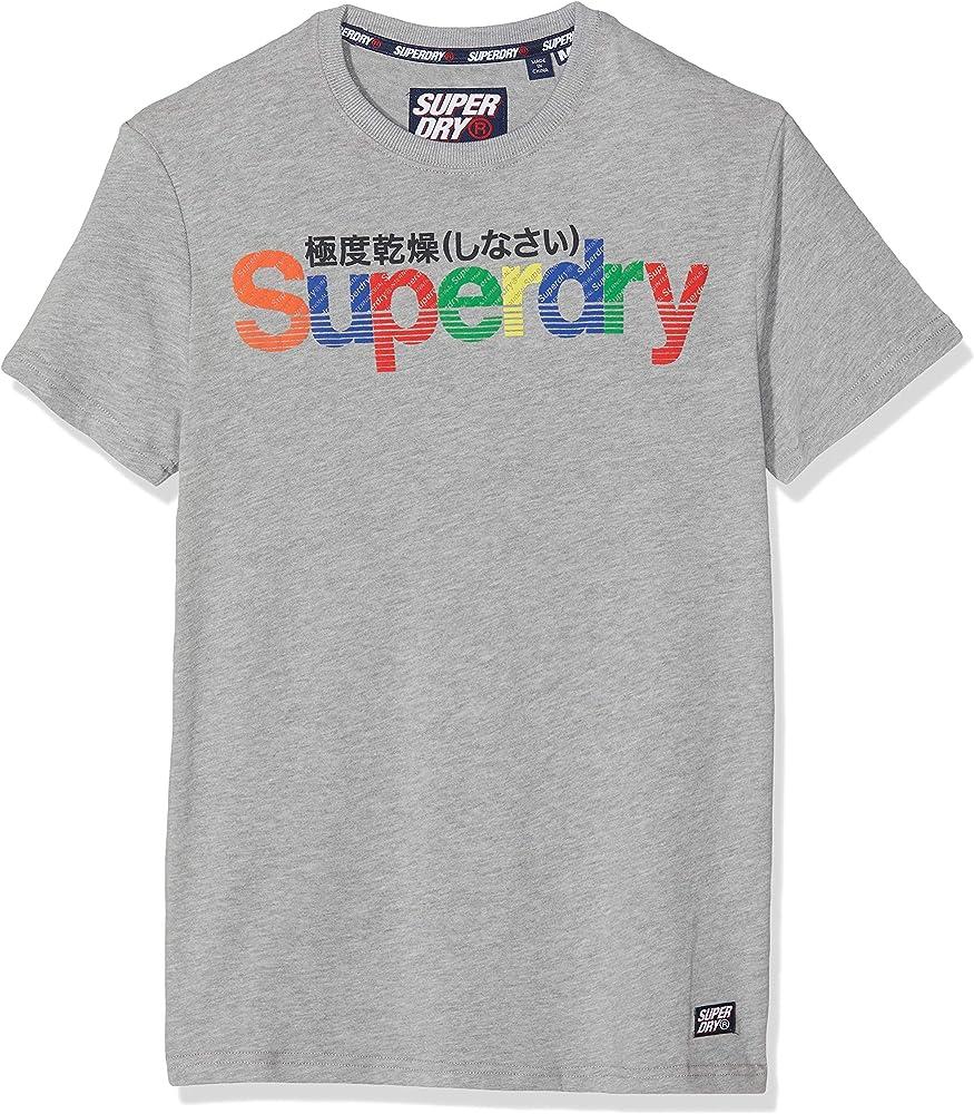 Superdry Retro Sport tee Camiseta, Gris (Grey Marl 07q), XS para Hombre: Amazon.es: Ropa y accesorios