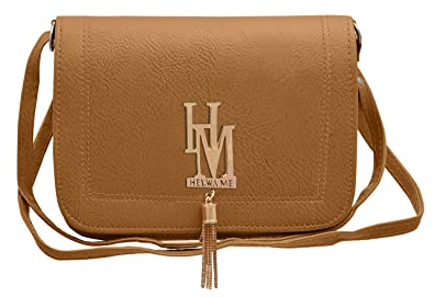 Image Unavailable. Image not available for. Colour  Tortilla Brown Fancy  Stylish Elegant Womens s Sling Cross Body Bag TAP FASHION (Light ... 2de89dfafc53e