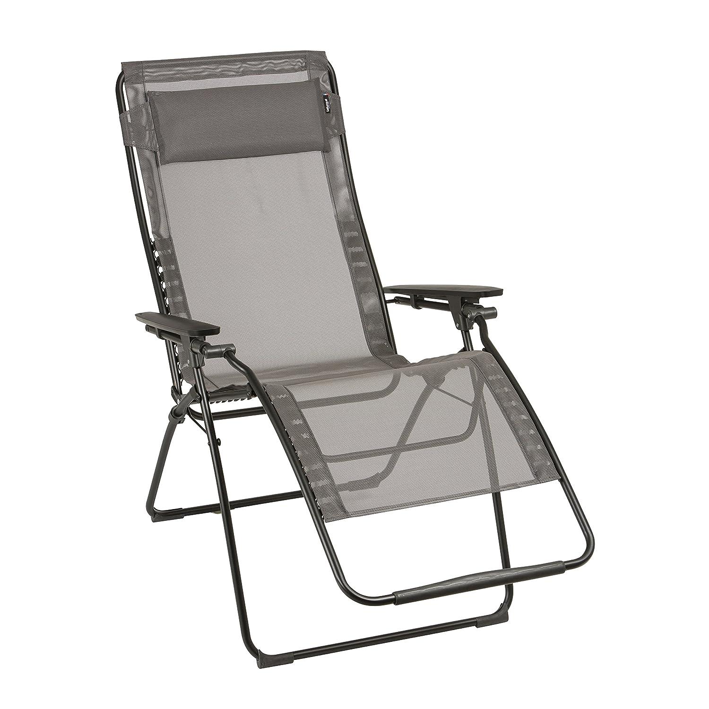Lafuma, Großer Relax-Liegestuhl, klappbar und verstellbar, Futura Batyline, Graphite, LFM3082-7660
