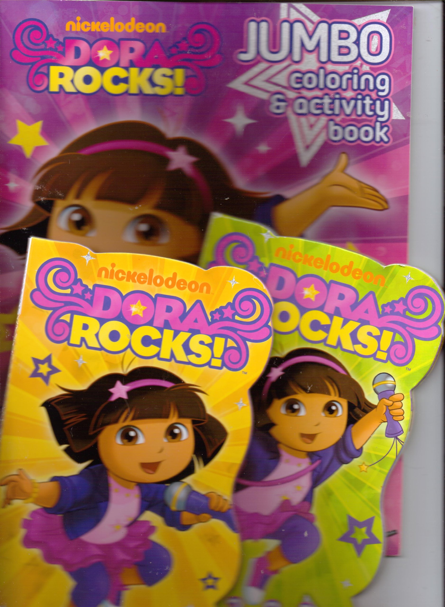 Dora Rocks! Sing Along with Me! & 3... 2... 1... Let's Jam Board Books & Move to the Music Coloring (Dora the Explorer) ebook