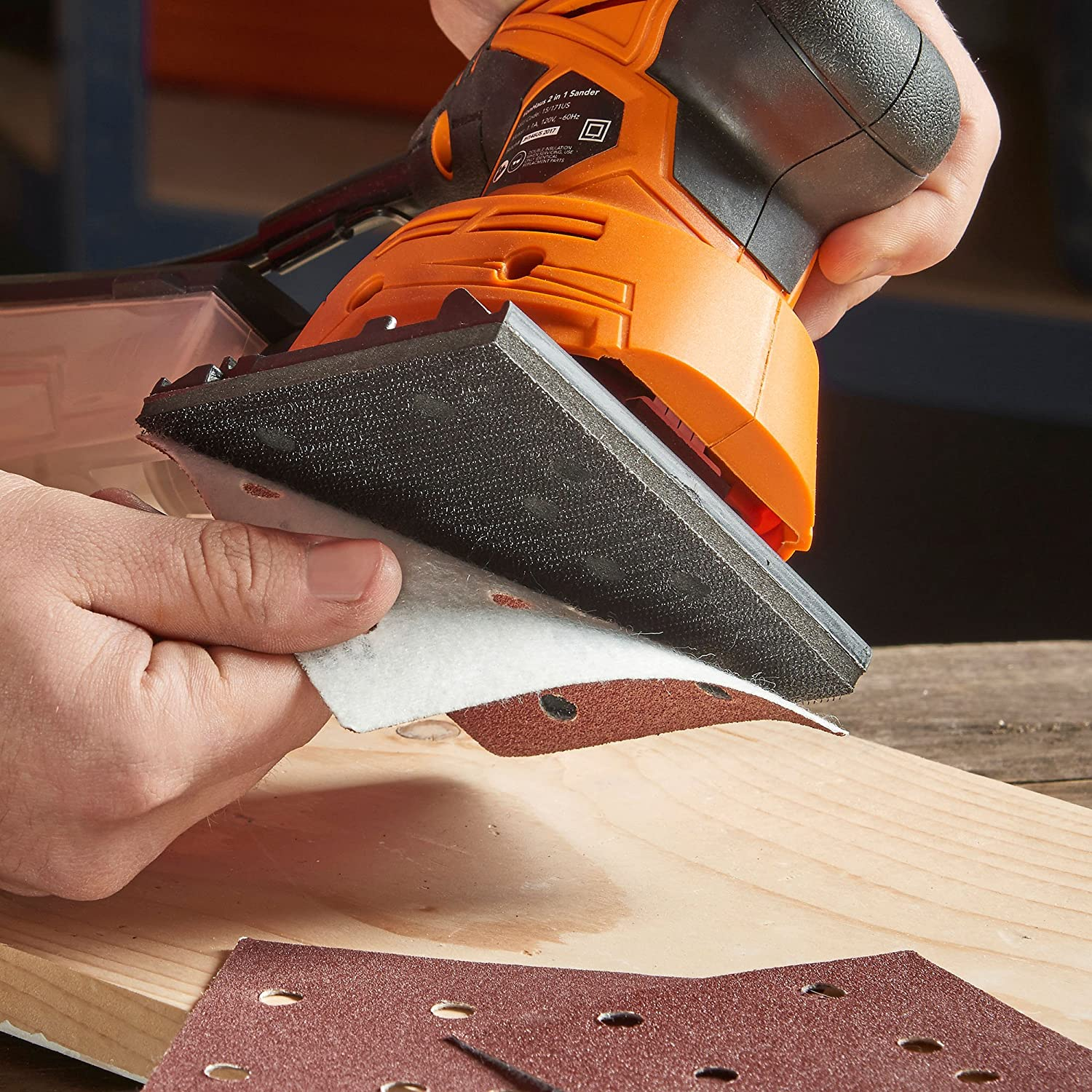 VonHaus Pack of 50 Sanding Sheets Only Compatible with the VonHaus 2 in 1 Sheet /& Detail Sander 15//171US DOMU Brands