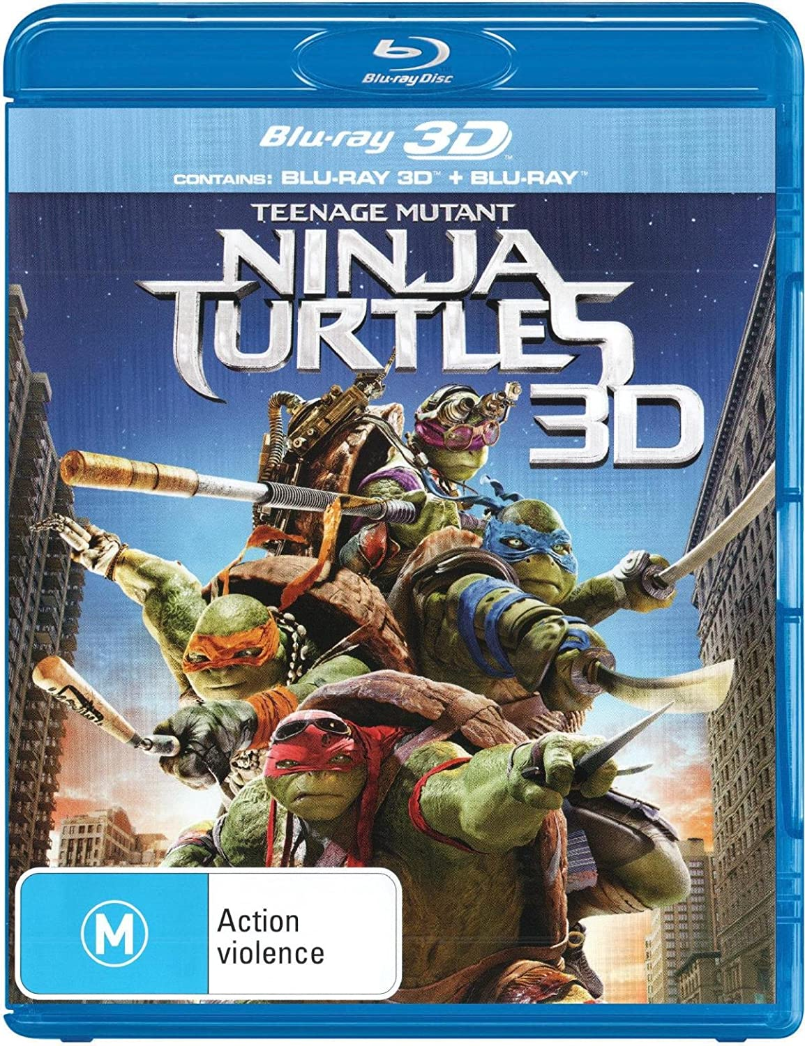 Teenage Mutant Ninja Turtles 3D 8 Blu-Ray Edizione ...