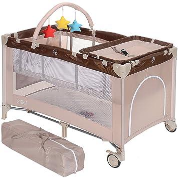 LCP Kids Kinder Reisebett faltbar 120x60 cm höherverstellbar Baby ...
