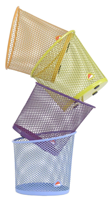 Ripiano porta-documenti in rete metallica Cestino della carta violett Alba