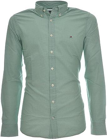 Tommy Hilfiger Triple Square PRT Sf2 Camisa, Verde (Verdant Green ...