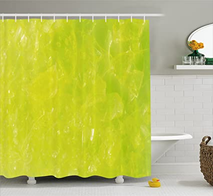 Ambesonne Lime Green Shower Curtain Grunge Hazy Color Background With Scattered Blurry Shade Effects Mystic