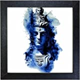 Sehaz Artworks 'Shiv Blue' Wall Photo Painting (Carbon Fibre, 30 cm x 30 cm x 3 cm)