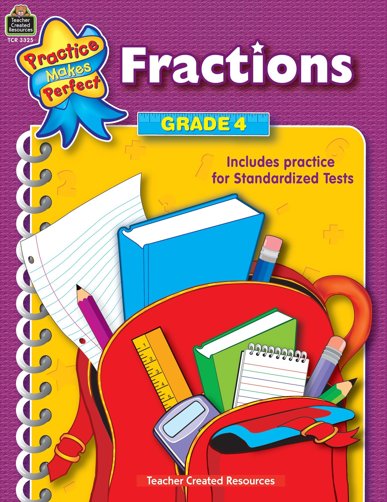 Amazon.com: Fractions Grade 4 (Practice Makes Perfect) (0014467033259): Teacher  Created Resources Staff: Books