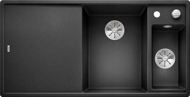 incluye tabla de cortar de vidrio Platillos Derecho Blanco 523472/Axia III 6/S 6/S Silgranit Puradur Ultrasonido con mando a distancia antracita
