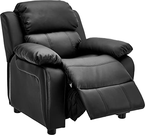 JC Home Kids Deluxe Padded Leather Recliner