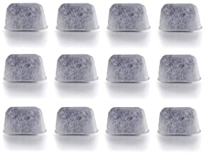 K&J 12-Pack of Cuisinart Compatible Replacement Charcoal Water Filters for Coffee Makers - Fits all Cuisinart Coffee Makers (Color: White, Tamaño: 12)
