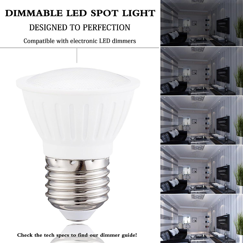Track Light Small Frog Warm White 700 Lumen 7W PAR16 LED Bulb 70W Equivalent E26 Dimmable 2700K Medium Base 10 Pack Spot Light Bulb CRI85+ Great for Outside Spotlight