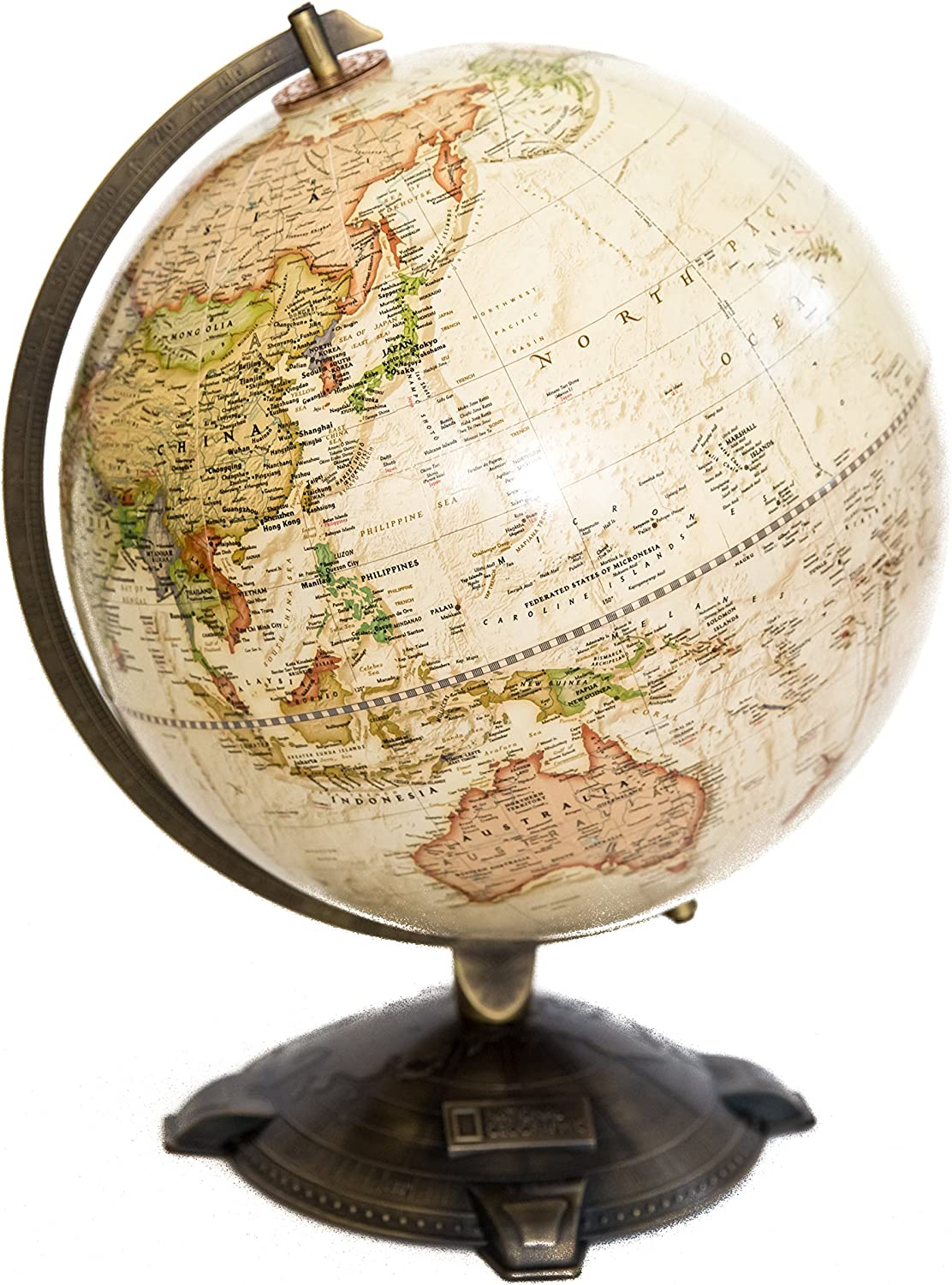 Amazon Com National Geographic Antique Globe 12 Made In The Usa Office Products