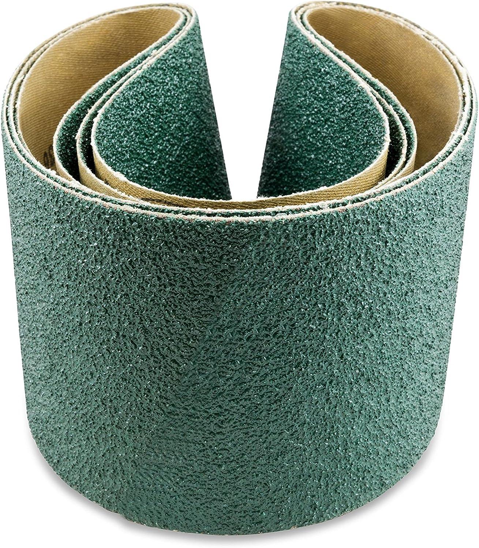 4 X 54 Inch 36 Grit Metal Grinding Zirconia Sanding Belts 3 Pack
