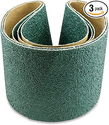 12 Pack, 50 Grit Sanding Belts 3 X 24 Cloth Zirconia Sander Belts