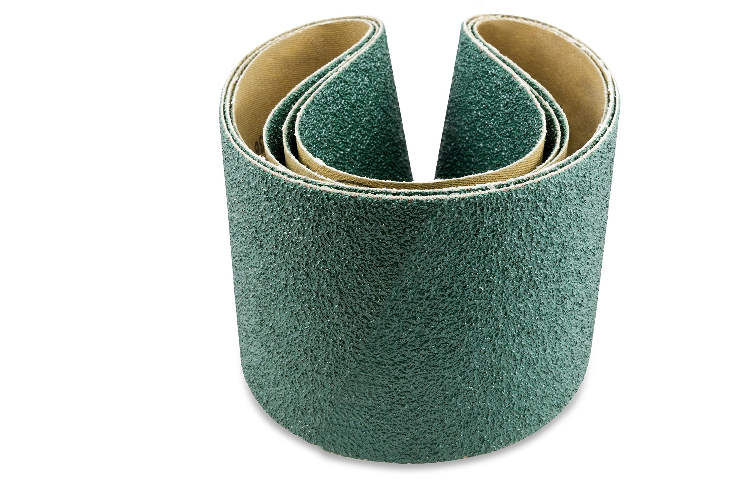 4 X 24 Inch 36 Grit Metal Grinding Zirconia Sanding Belts, 3 Pack