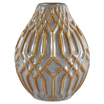 Amazon Stone Beam Modern Ceramic Vase With Geometric Pattern
