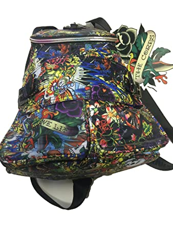 47723fe71f37 Ed Hardy Backpack The Corps Approx 32x28x20 cm  Amazon.co.uk  Luggage