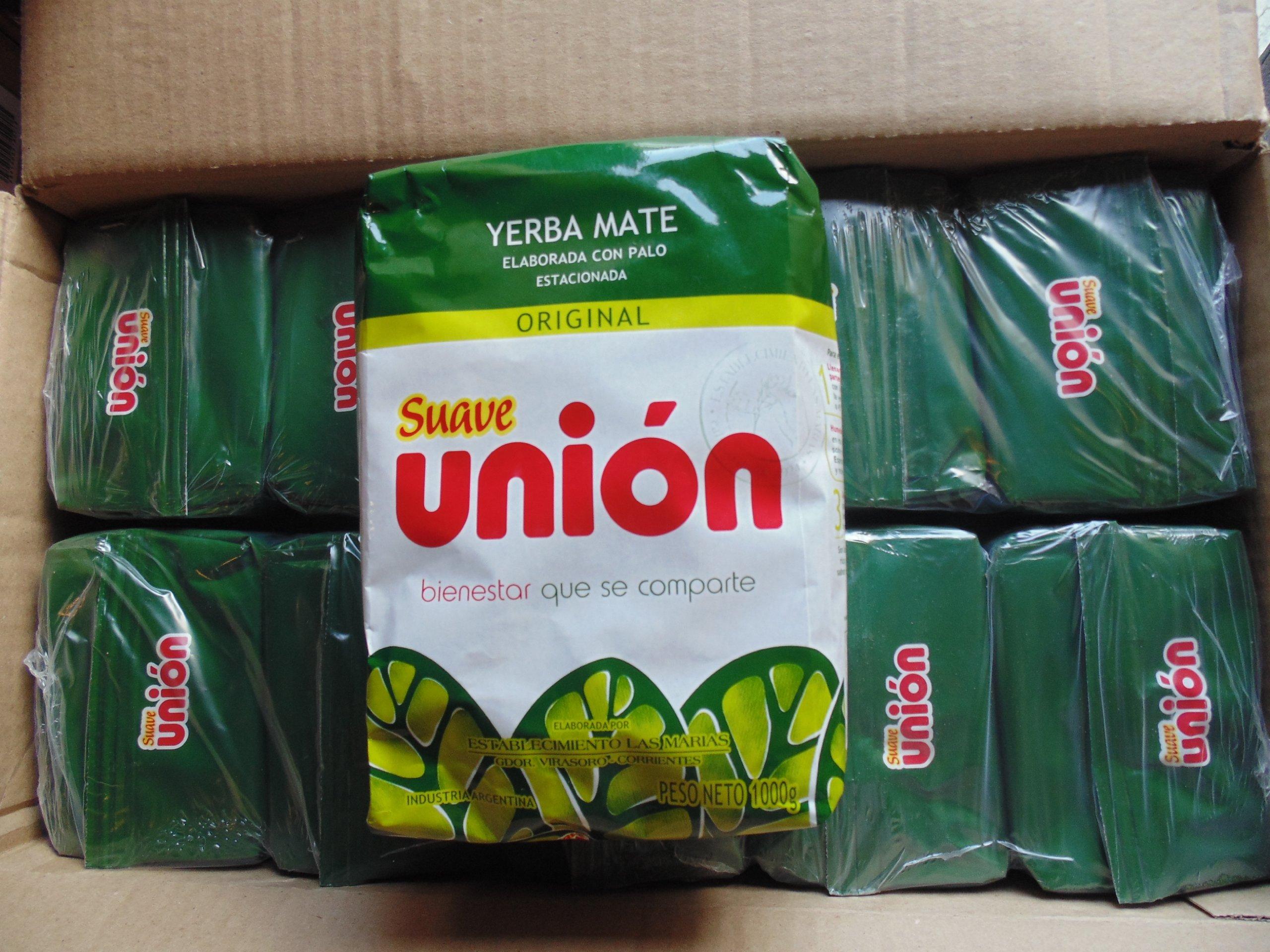 Union Yerba Mate Suave 2.2 Lbs/ 1 Kilo (10 Packs)