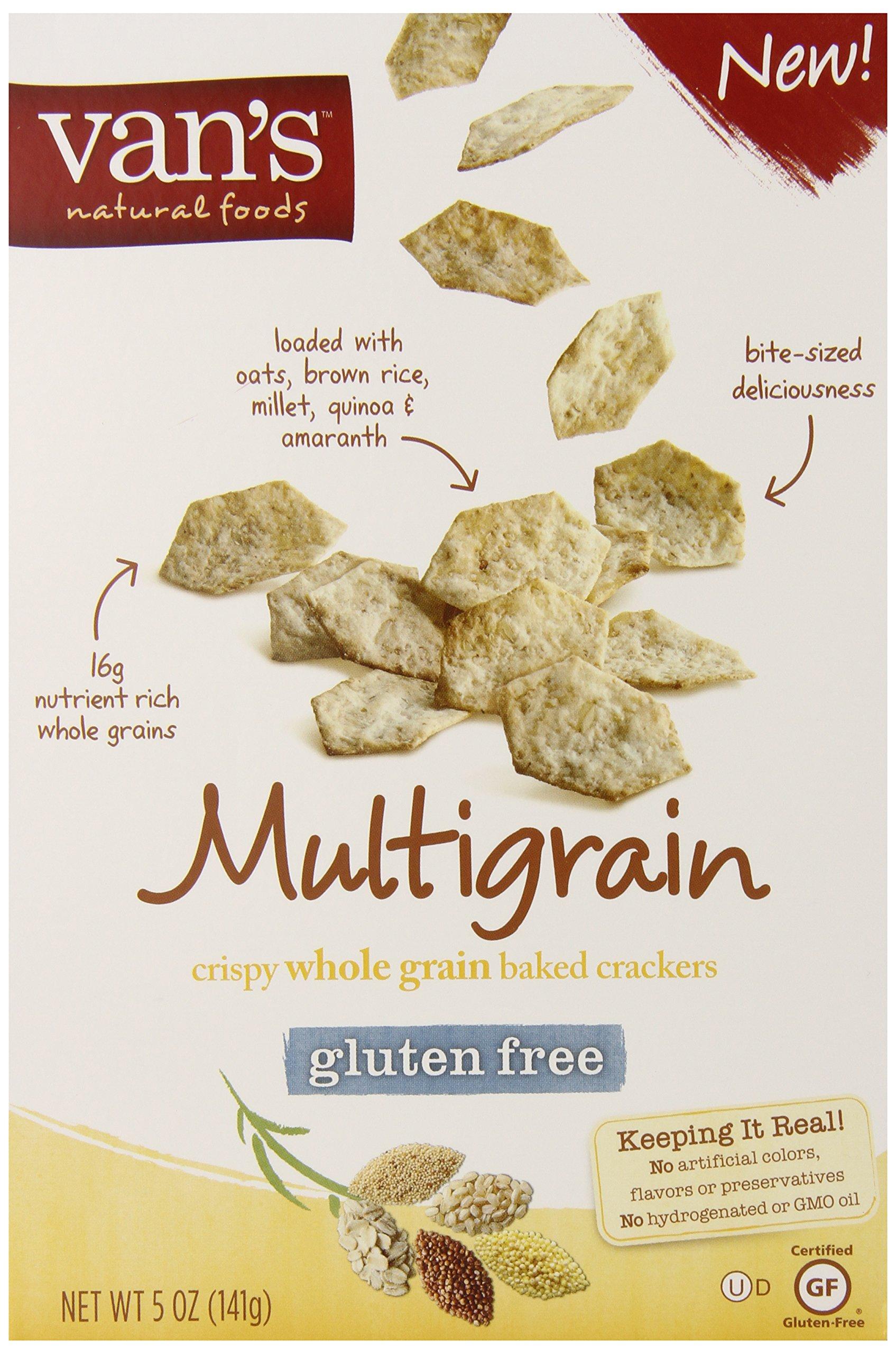 Vans Natural Foods Multigrain Gluten Free Crackers, 5 Ounce - 6 per case. by Van's Natural Foods