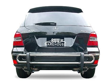 wynntech Protector de parachoques trasero para Mercedes Benz GLK 2010 a 2013 – double Pipe Acero