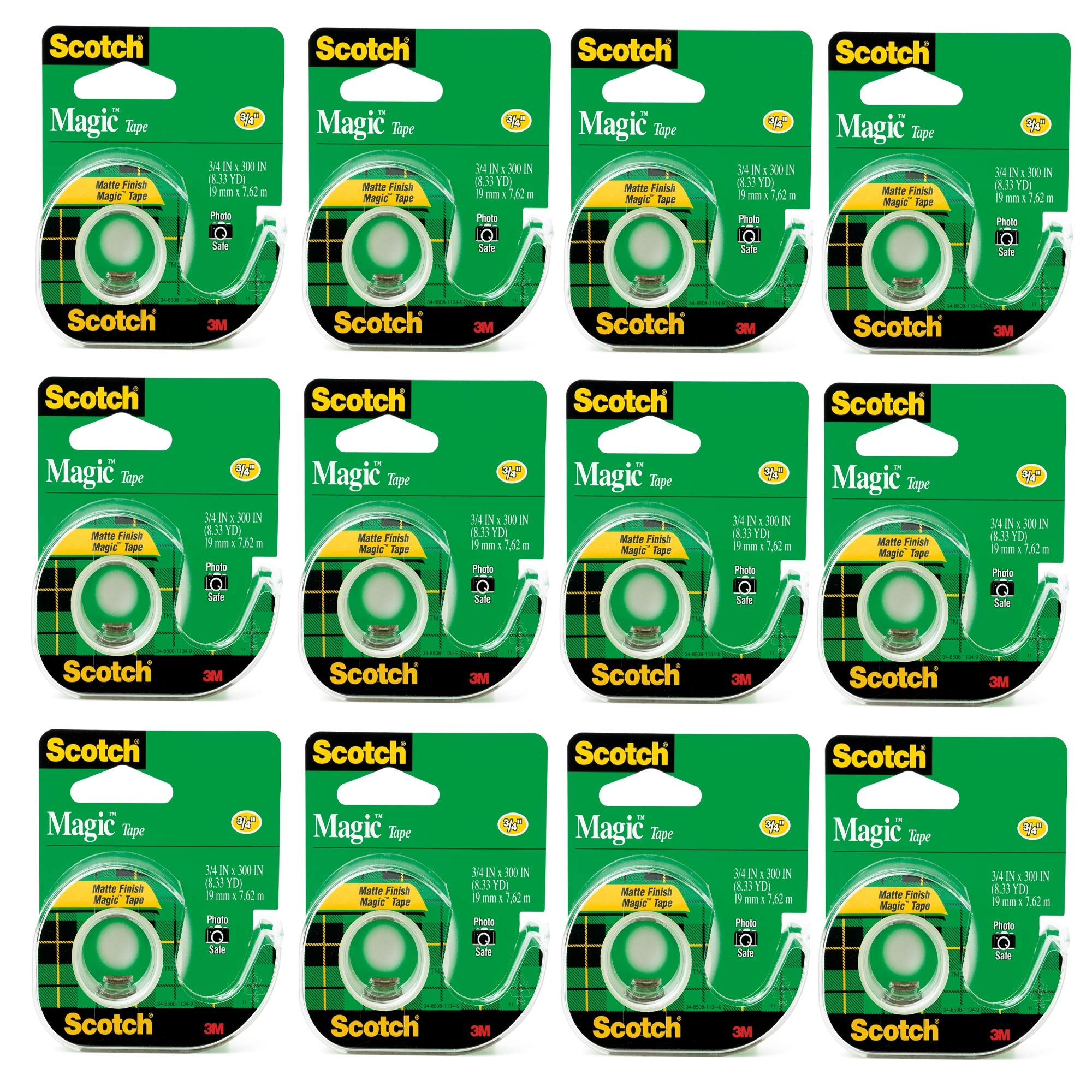 Scotch 3105 3/4 in. x 300 in. Scotch Magic Tape (Pack of 12) by Scotch Brand