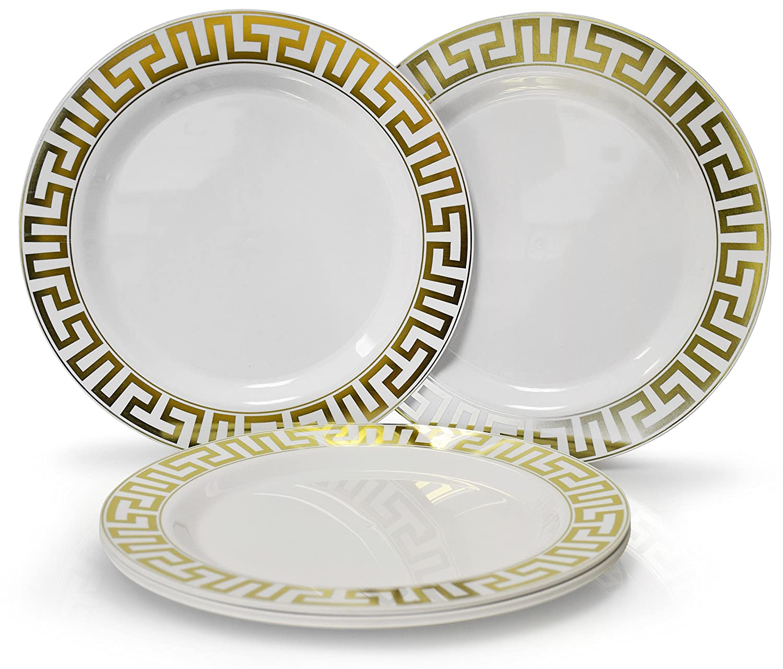 Occasions 使い捨てプラスチック皿 120パック 厚手 結婚パーティー用 Appetizer / Dessert Plate ゴールド 43207-3227 B01NBFIGT5 Appetizer / Dessert Plate|Milano White / Gold Milano White / Gold Appetizer / Dessert Plate