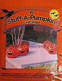 6 Pack Pumpkin Leaf Bags
