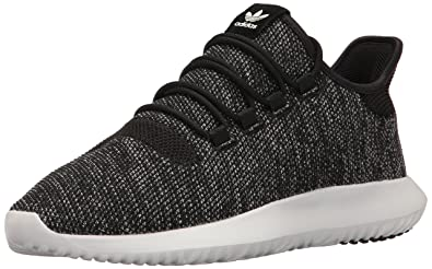 adidas Originals Men's Tubular Shadow Knit Fashion Sneaker, Black/Utility  Black Vintage White St