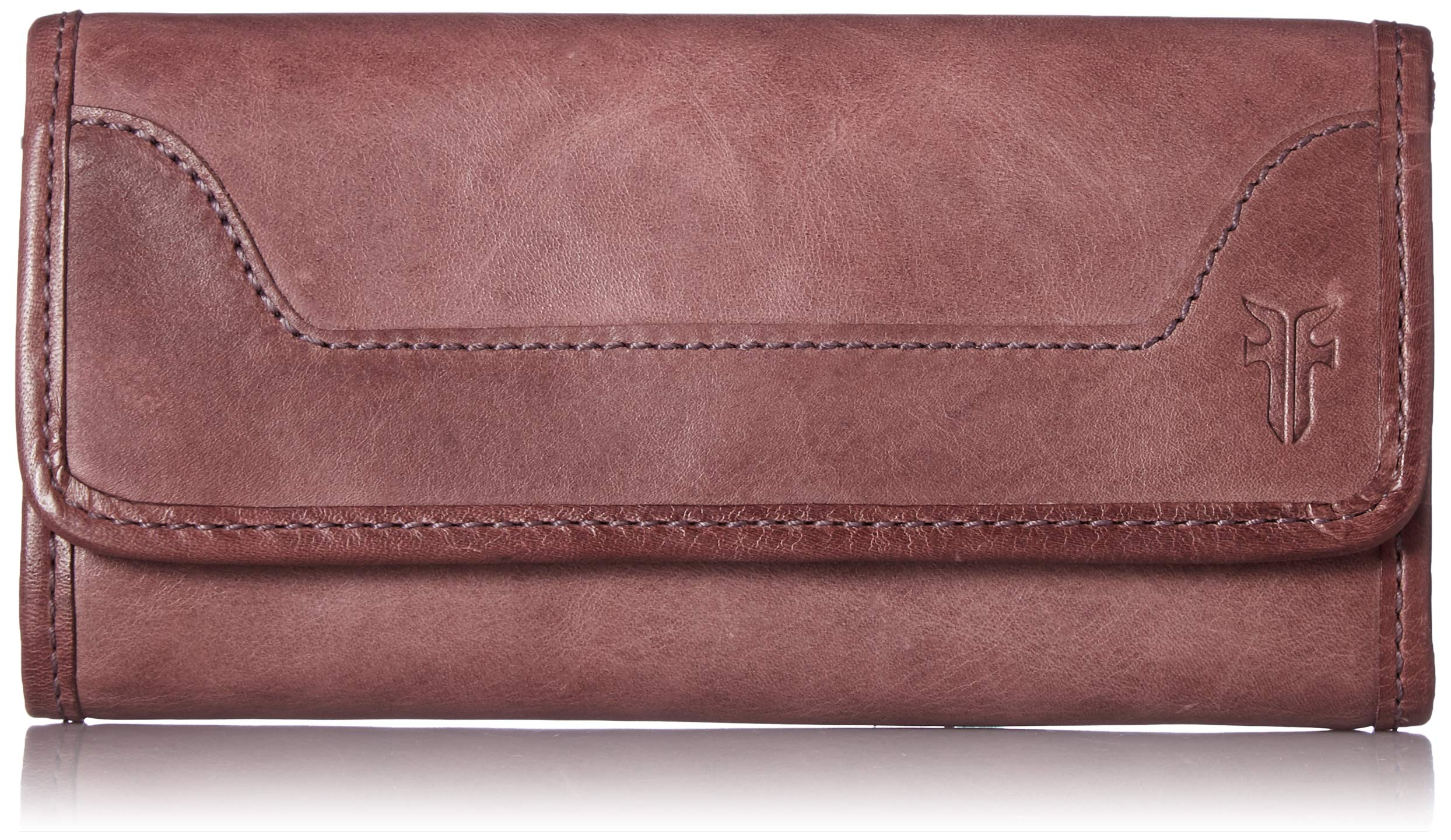 FRYE Melissa Continental Snap Leather Wallet, lilac