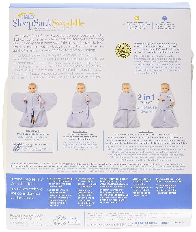 HALO 2155 SleepSack Micro-Fleece Swaddle Small Cream